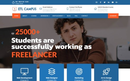 EtlCampus - Online Course & Education Fully Responsive Creative Bootstrap Website template Website Template