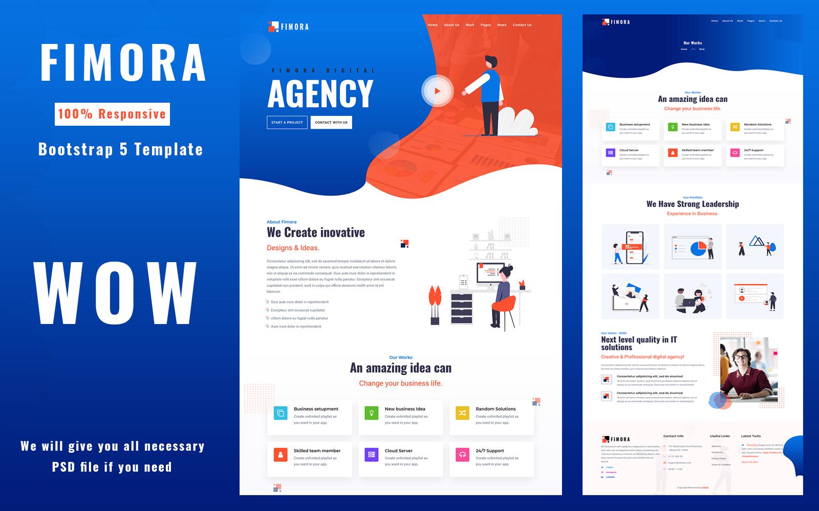 Fimora - Sjabloon voor zakelijke websites van Digital Agency