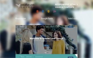 Greater Love Church - Free Clean Christian Church HTML Website Template