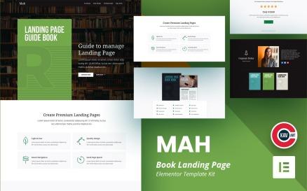 MAH - Book Landing Page Elementor Kit