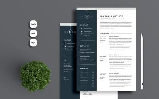 Marian Keyes Printable Resume Templates