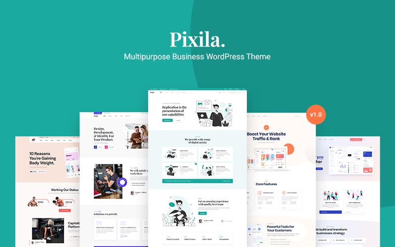 Pixila - Multifunctioneel WordPress-thema voor bedrijven