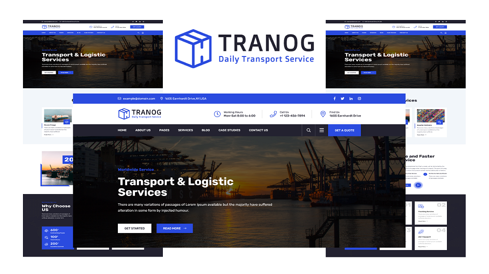 Tranog - Transportation and Logistics HTML5 Template