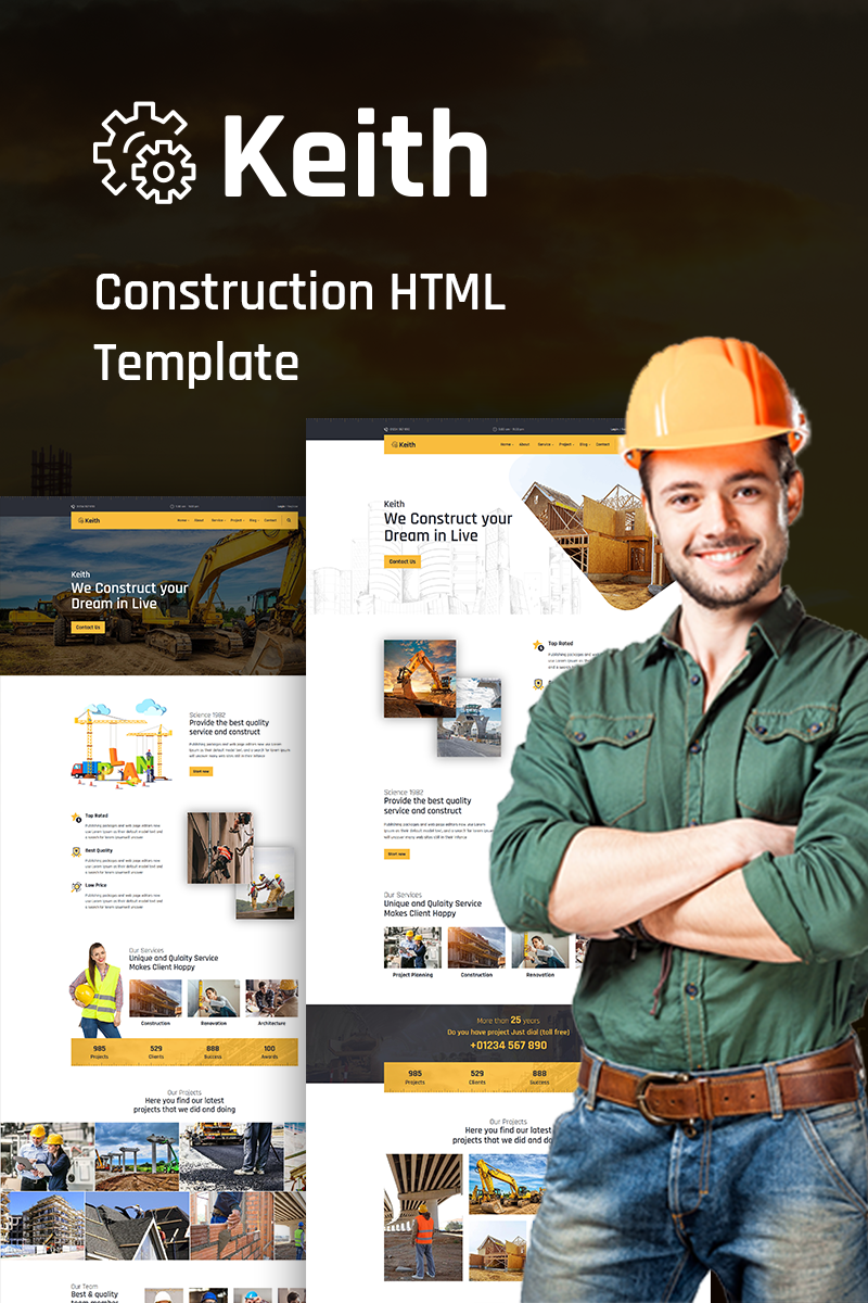 Keith – Construction Website Template