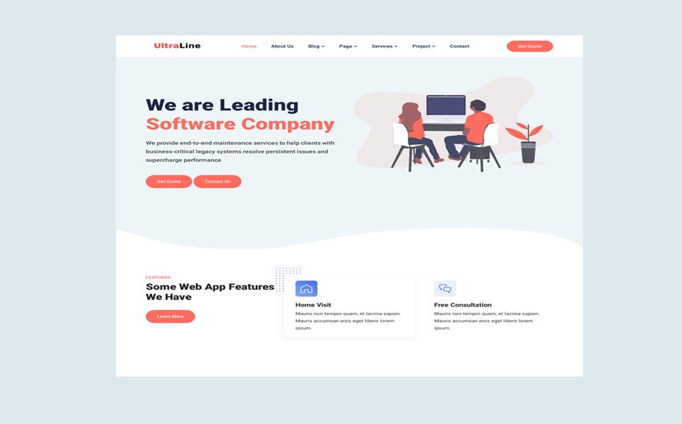 Ultraline - IT Solutions & Business Services Website Template