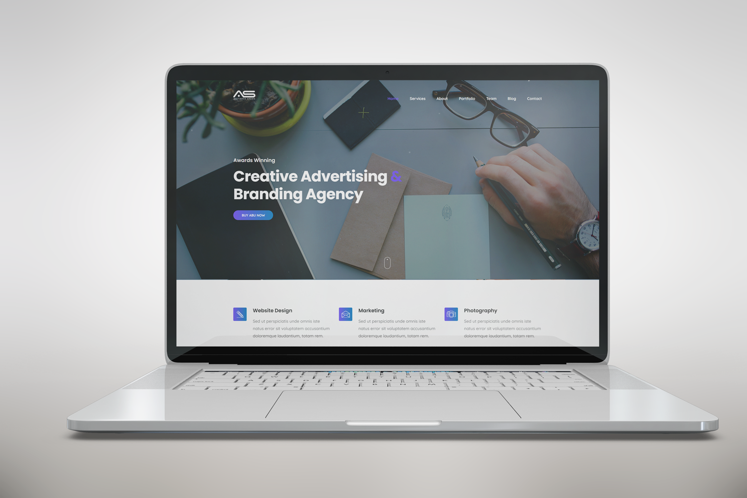 Abu - One Page Creative Advertising Website Template