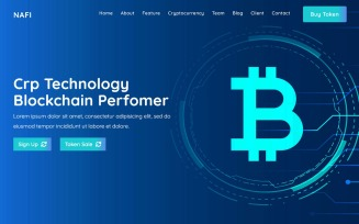 An-Nafi - Bitcoin & Cryptocurrency Landing Page HTML Template