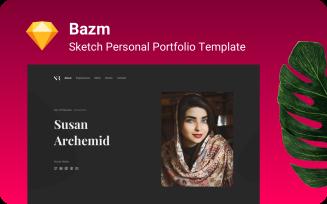 Bazm Modern Portfolio Website Sketch Template