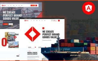 Delco Logistics & Cargo Angular JS Website Template