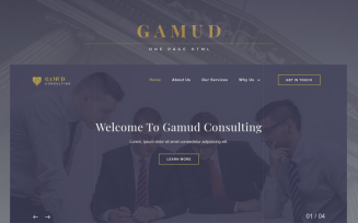 Gamud - Multipurpose Businnes & Consulting Landing Page Template
