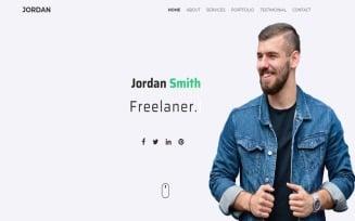 Jordan - Minimal Personal/Portfolio Template Landing Page Template