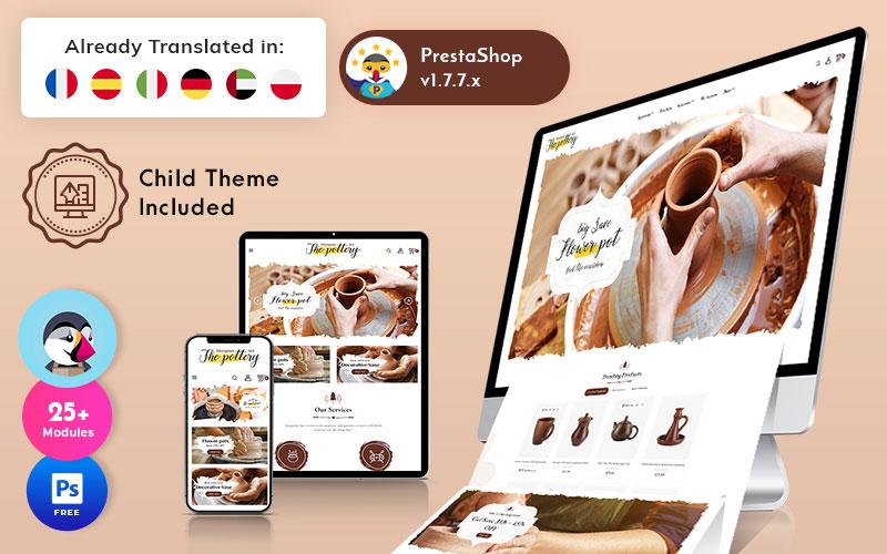 Pottery - Art Ceramic Store Multifunctioneel PrestaShop-thema