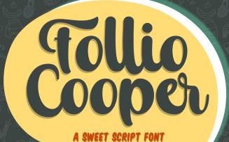 Follio Cooper - Bold Script Font