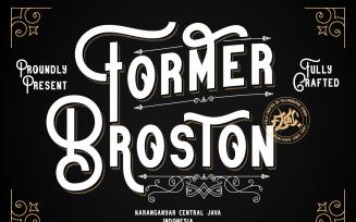 Former Broston Fonts