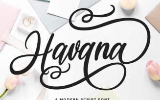 Havana - a Modern Script Fonts