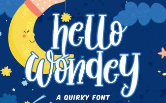 Hello Wondey Fonts