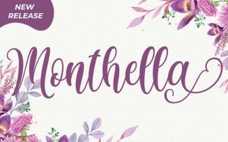 Monthella Script Fonts