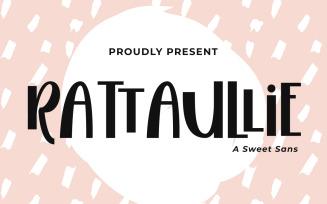 Rattaullie - A Sweet Sans Fonts