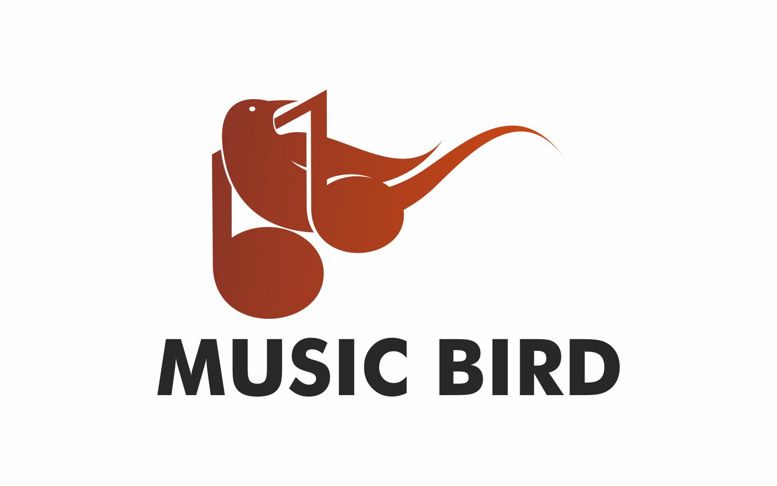 Vogel muziek Logo sjabloon