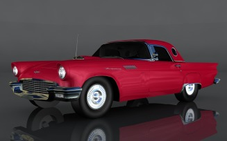 Ford Thunderbird 1956 3D Model