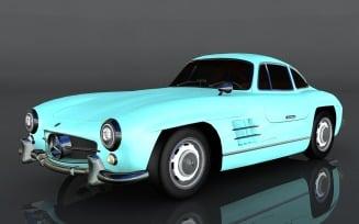 Mercedes-Benz 300 SL 1954 3D Model