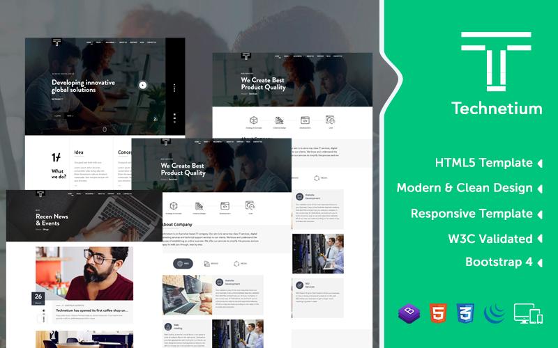 Technetium – Agency HTML5, CSS & JS Responsive Website Template