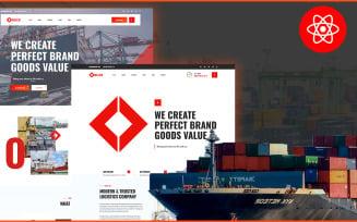 Delco Logistics Cargo React Website Template