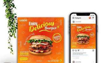 Free Fast Food Restaurant Post Social Media