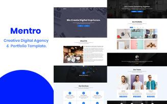 Mentro - Creative Digital Agency & Portfolio Landing Page Template