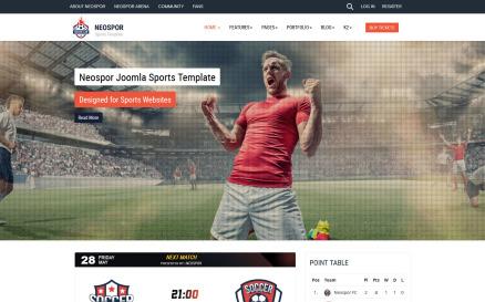 Neospor Joomla Sport Template Joomla Template
