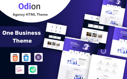 Odion - Creative Agency HTML5 Template Website Template