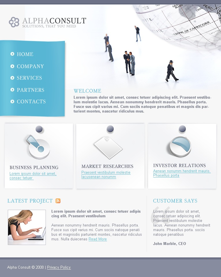 Consulting website template 17986 for Consulting website