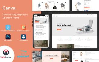 Canva - Modern Furniture OpenCart Template