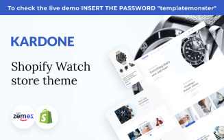 Kardone Shopify Watch Store Theme