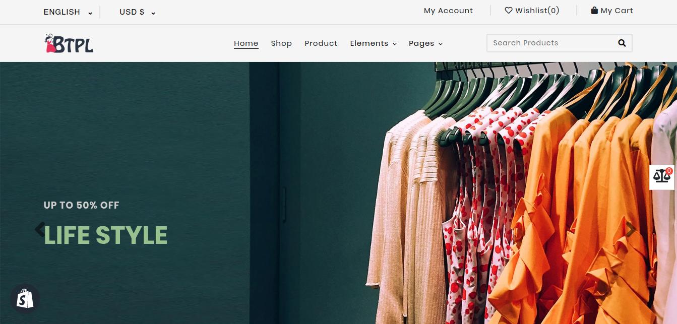 BTPL Fashion - Responsive Shopify Theme