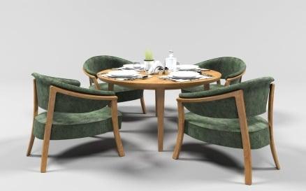 Dining Set 1011 3D Model