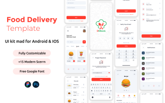 DMeals The Food Delivery App UI Mobile Kit Android | IOS (Lite)