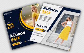 Fashion Sale Instagram Banners Template Social Media
