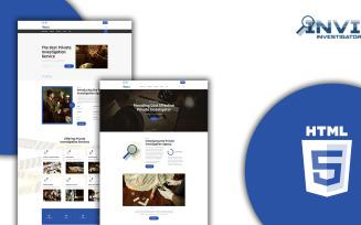 Invi - Private Investigator Html Website Template