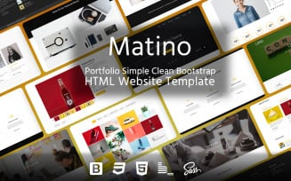 Matino – Portfolio Simple Clean Bootstrap HTML Website Template