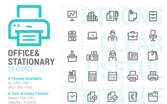 Office & Stationary Mini Iconset template