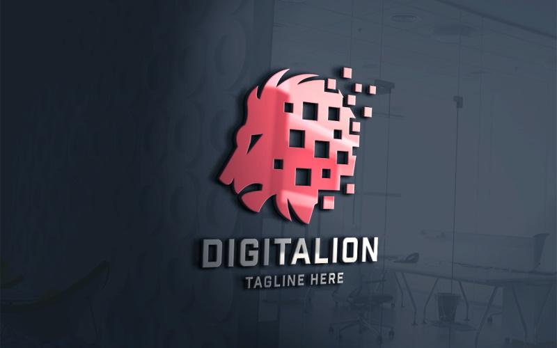 Digitale Lion Logo sjabloon