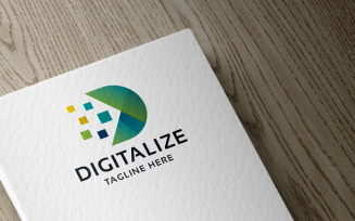Digitalize Letter D Logo template