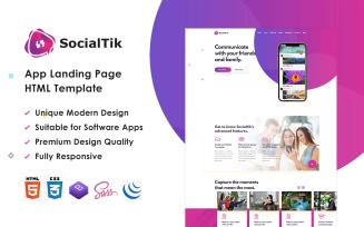 Socialtik – App Landing Page HTML Template