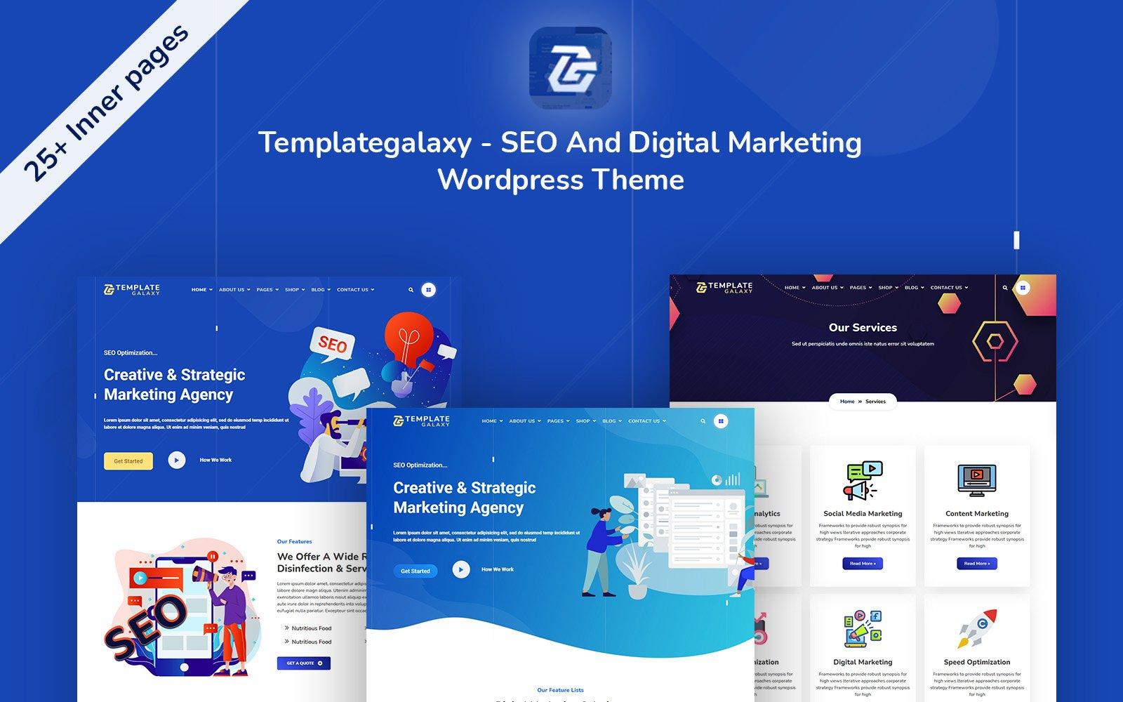 Templategalaxy - SEO en digitale marketing WordPress-thema