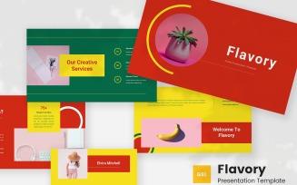 Flavory - Pastel Google Slides Template