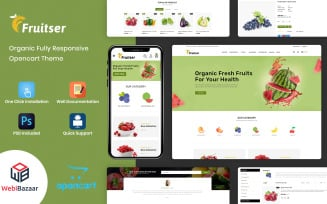 Fruitser - Grocery Store OpenCart Template