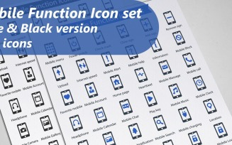 Mobile Function Iconset template