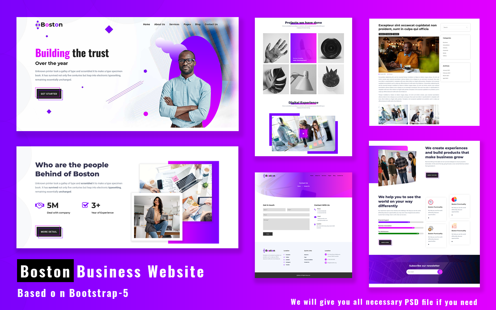 Boston - Business Website Template