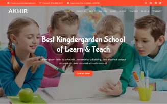 Al-Akhir - Kingdergarden School Website Template